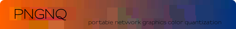 PNGNQ, portable network graphics color quantization.